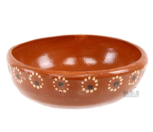 Plato Pozolero Bowl De Barro Traditional Authentic Mexican Artisan Floral 100% Lead Free Clay Soup Pozole Menudo Caldo Bowls