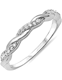 Image result for cz zirconia twist infinity ring band