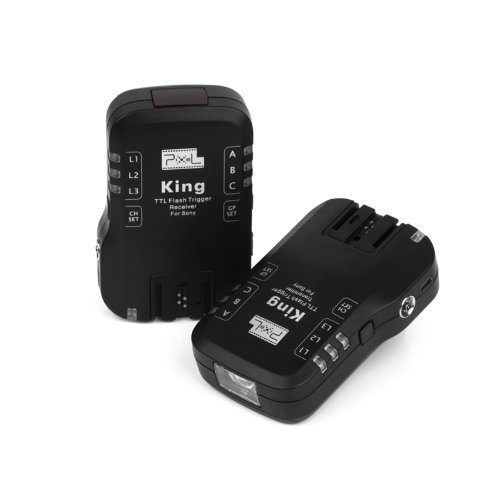 PIXEL King Wireless Radio TTL Flash Trigger for Sony DSLRs & Flashes by PIXEL