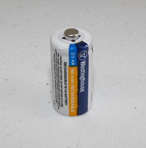 1x 2/3 AA NI-Cd Battery Rechargeable Westinghouse 1.2 V Volt 150 mAh Reusable Chargeable (Batteries Aa Nicd Mah)