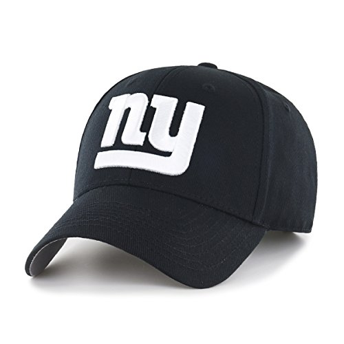 New York Giants Cap (NFL New York Giants OTS All-Star Adjustable Hat, Black & White, One Size)