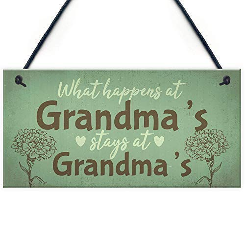 Wood Sign 5x10 inches Grandma Gifts for Nan Nanny Hanging Plaque Garden Sign Kitchen Plaque Birthday Gift 10inches X 5inches
