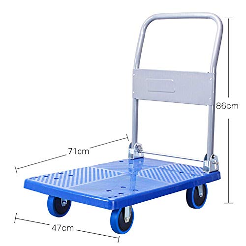 AOLI Platform Trucks Heavy Duty Rolling Utility Cart Warehouse Moving Flatbed Platform Industrial for All Terrain, Load 150Kg/300Kg,150kg from AOLI