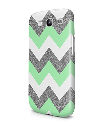 Pastel Green Chevron Glitter Sparkle Patttern Plastic Snap-On Case Cover Shell For Samsung Galaxy S3
