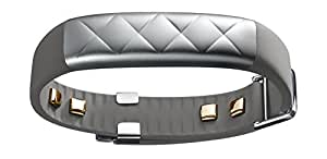 UP4 by Jawbone Heart Rate, Activity + Sleep Tracker with Amex Payments, Silver Cross (Gray)