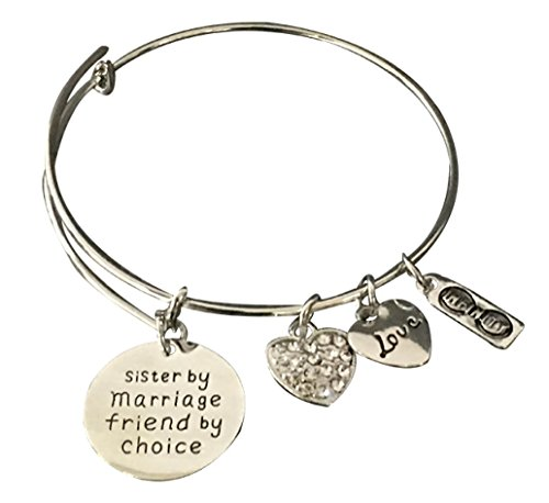 Infinity Collection Sister-in-Law Bracelet, Sister in Law Gifts, Sister in Law Jewelry (Christmas Gift For New Sister In Law)