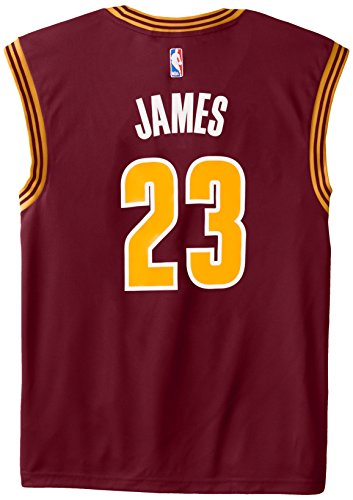 NBA Men's Cleveland Cavaliers LeBron James Replica Player Stretch Jersey, 2X-Large, Maroon