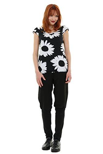 White Flower Made verano mangas mujer Top In con abullonadas para de Camiseta ador 3elfen de dise Berlin ZqnwaxU1