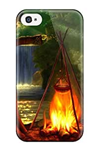 Rugged Skin Case Cover For Iphone 6 plus 5.5- Eco-friendly Packaging(fire Spell)