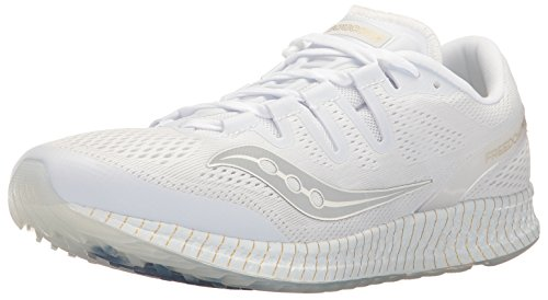Saucony Freedom Iso Unisex Road-Running-Shoes - White/Gol...