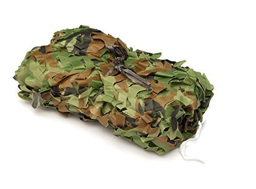 INorton Camo Netting Camouflage Net, 20×20ft Military Camo Mesh Netting,Hunting Shooting Blind Sunscreen Nets,Fit for Camping,Fishing,Party Decoration by INorton