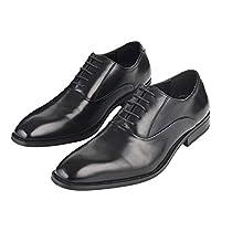 [Adolph] ビジネスシューズ 革靴 メンズ 防滑 防水 軽量ZY-1006 (ブ...