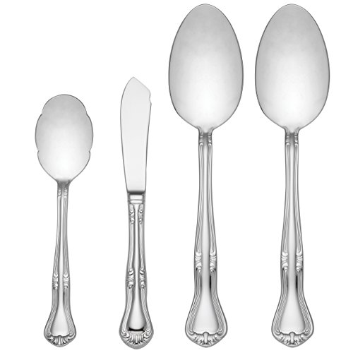 - Gorham Valcourt 4-Piece Stainless Flatware Serving Set