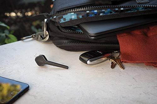 Plantronics Bluetooth Headset, Voyager 3200 Bluetooth Earpiece, Compatible with iPhone and iPad, Diamond Black (Renewed)
