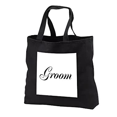 InspirationzStore His and Hers gifts - Groom - part of bride and groom set - couples gift - wedding marriage just married bachelor party - Tote Bags - Black Tote Bag JUMBO 20w x 15h x 5d (tb_112864_3)
