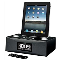 iHome iD85 App-enhanced Dual Alarm Clock Radio for your iPad/iPhone/iPod with AM/FM presets