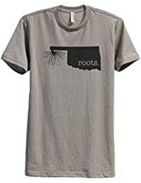 "<span class=""a-offscreen"">[Sponsored]</span>Home Roots State Oklahoma OK Men's Modern Fit T-Shirt Printed Graphic Tee"