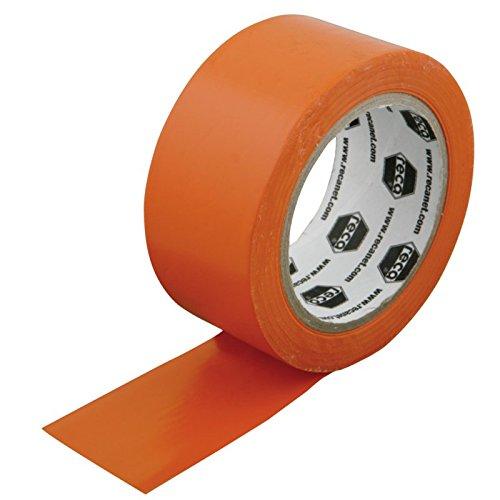 PVC Schutzband 50 mm x 33m glatt Orange Putzerband Putzband Klebeband 50mm