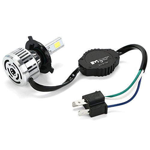 Fan Motor Insulation - CICMOD LED motorcycle headlight H4 Hi/Low Beam 3000LM 6500K Motorbike Bulb, 32W BA20D Head lamp Xenon White Light for Hoda KTM Harley (1pc)