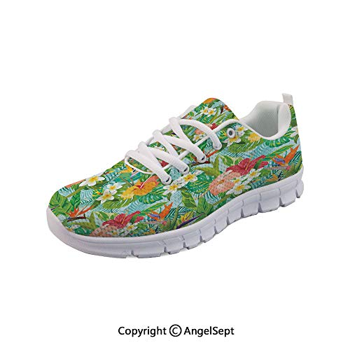(SfeatruAngel Athletic Shoes Cartoon Style Image of Crepe Sports Shoes)