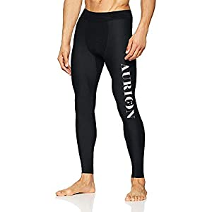 AURION Men's Performance Training Tights for Gym Yoga Sports Compression Running Leggings Gym Workout Tights Base Layer…