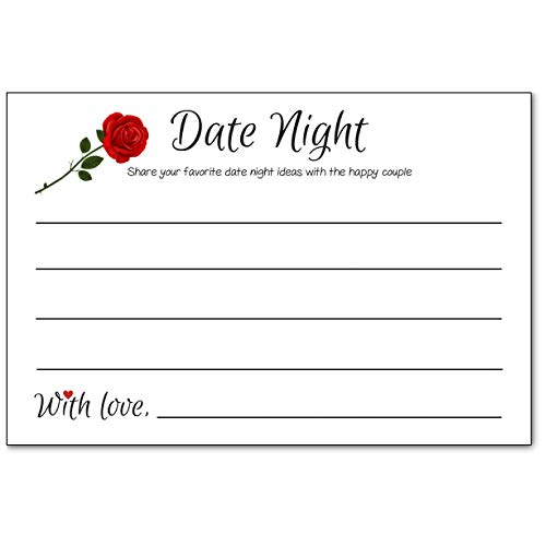 Date Night Ideas Cards for Married Couples, Bridal