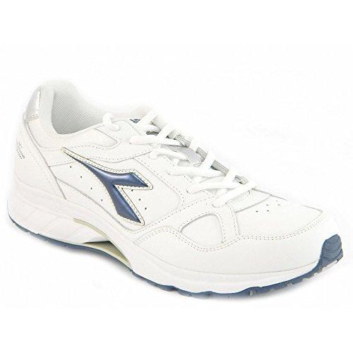 Diadora - Diadora Chaussures de sport Running pour Homme Lacets Cuir NJ-300-1 L Blanc Net Breathing System C1433 - 42,5
