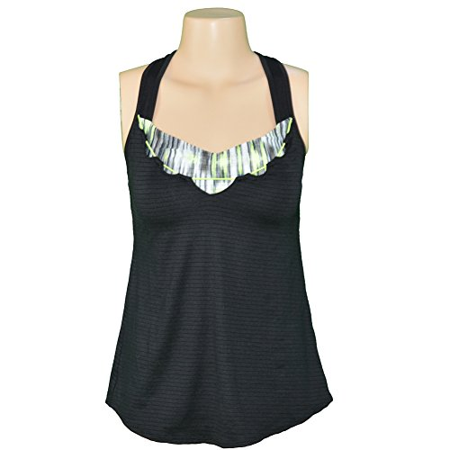 Lucky in Love Women's Into the Woods Double Take Bralette Tank (X-Small) (Lucky In Love Tennis Into The Woods)