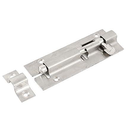 Accesorios para puertas tono de plata metálica salvaguardia Barril Perno