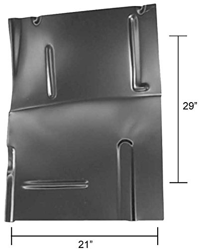Front Cab Floor Half - Replacement - LH - 73-87 Chevy GMC Truck; 73-91 Blazer Jimmy Suburban Auto Metal Direct