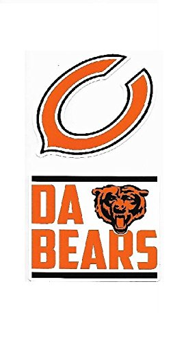 NFL Chicago Bears Double Up Die Cut 2-Piece Sticker Sheet