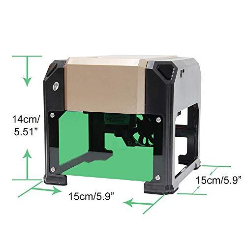 Vogvigo Laser Engraver Printer DIY Logo Laser Engraver Laser Engraving Machine Mini Desktop Laser Engraver Machine (3000W) by Vogvigo (Image #1)