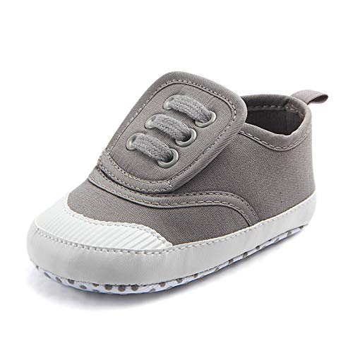 Meckior Save Beautiful Toddler Baby Girls Boys Shoes Infant First Walkers Sneakers (12-18 Months, B07-gray)