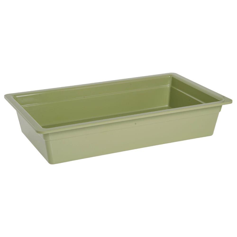 Cold Food Bar Pan Full SizeWillow Green Melamine - 20 3/4 L x 12 3/4 W x 4