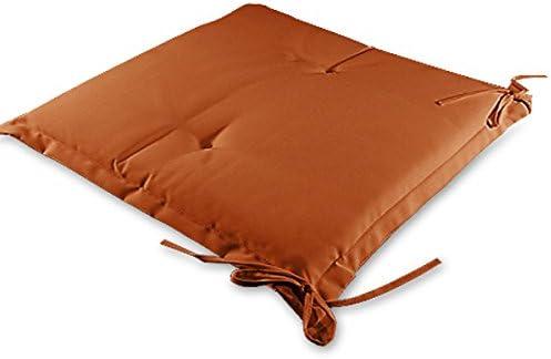 Detex/® Stuhlauflagen Sydney 4er Set Wasserabweisend Kissen Sitzkissen Stuhlkissen Auflage Sitzauflage Terracotta