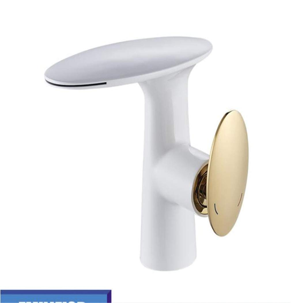 Waterfall Bathroom Basin Faucet Golden Polished Hot Cold Water Mixer Taps WashBasin Faucets Deck Mounted