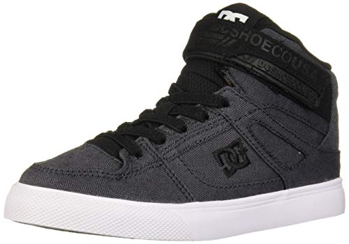 DC Boys' Pure HIGH-TOP TX SE EV Skate Shoe, Black/Armor, 7 M M US Big Kid (Boys High Top Shoes Dc)