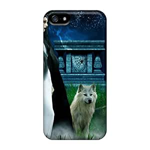 Special Collmith Skin Case Cover For Iphone 5/5s, Popular Beneath A Full Moon Phone Case