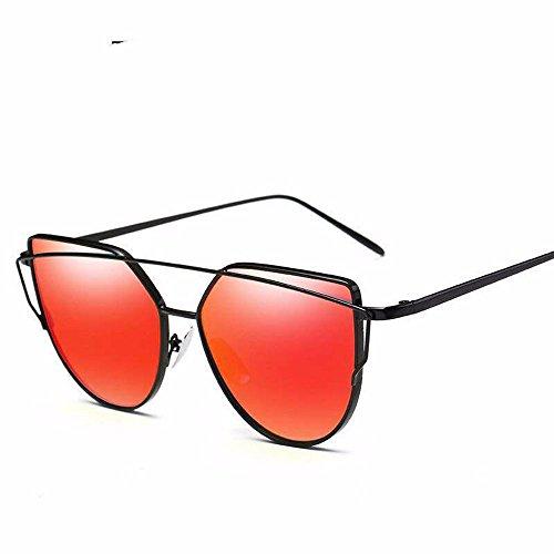 Red Marco Gafas Cat Negro Chip Plata de Sol de Sol de con de sol de Gafas Sol de enmarcado de Azul Mercury Gafas Eye Metal Liuxc Colores Gafas FPOSnq1q