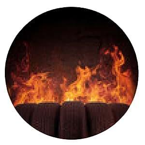 alfombrilla de ratón llantas negras en la llama caliente - ronda - 20cm