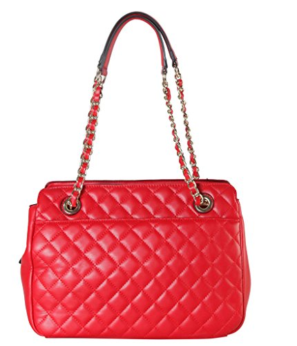 Rimen & Co. PU Leather Large Quilted Tote Accented with Chain Handle Womens Purse Handbag XX-3749