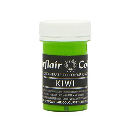 Sugarflair KIWI Green Pastel Paste Gel Edible Food Icing Colouring 25G