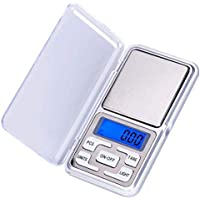 WIlliamKlein Pocket Digital Kitchen Scales for Food, Jewellery Gold Herbs - 0.01g to 200g - Auto Calibration - Tare…