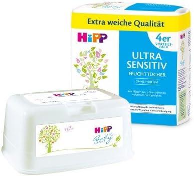 Hipp Baby suavemente da90001/Toallitas Ultra Sensible color blanco 4 x 52 unidades