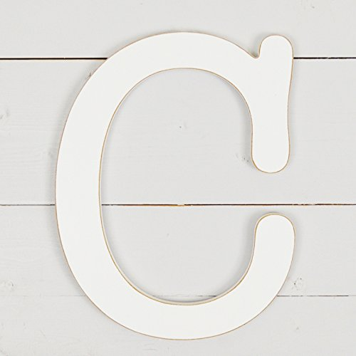 11.5'' Typewriter Wall Decor Letter ''C''- White