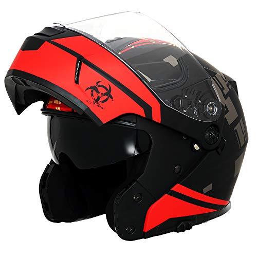 Triangle Motorcycle Helmets Modular Dual Visor Flip Up (Medium