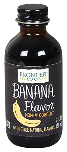Frontier Co-op Banana Flavor, Non-Alcoholic, 2 ounce bottle (Pack of 3)