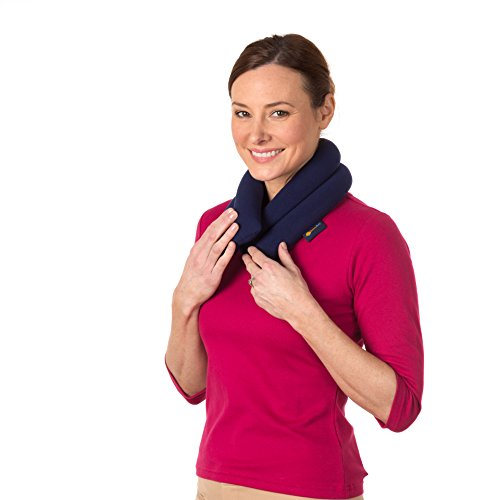 - Sunny Bay Extra Long Neck Heating Wrap, Heat Therapy Pad for Sore Neck Shoulder Muscle Pain Relief | Thermal, Reusable, Non Electric, Hot Pack Pads or Cold Compress, Navy Blue, Lavender-Scented