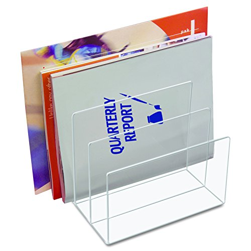 Kantek  Acrylic File Sorter, 8 x 6 1/2 x 7 1/2 Inches , Clear (AD45) File Acrylic