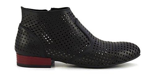 CAF NOIR MEB232 zapato negro talón de arranque postal traspasado mujer Nero